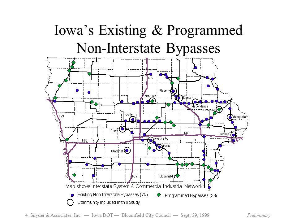 4 Snyder & Associates, Inc.— Iowa DOT — Bloomfield City Council — Sept.