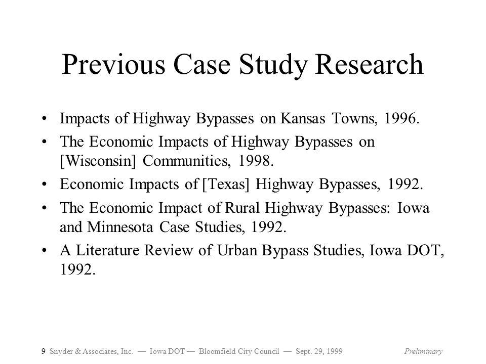 9 Snyder & Associates, Inc.— Iowa DOT — Bloomfield City Council — Sept.