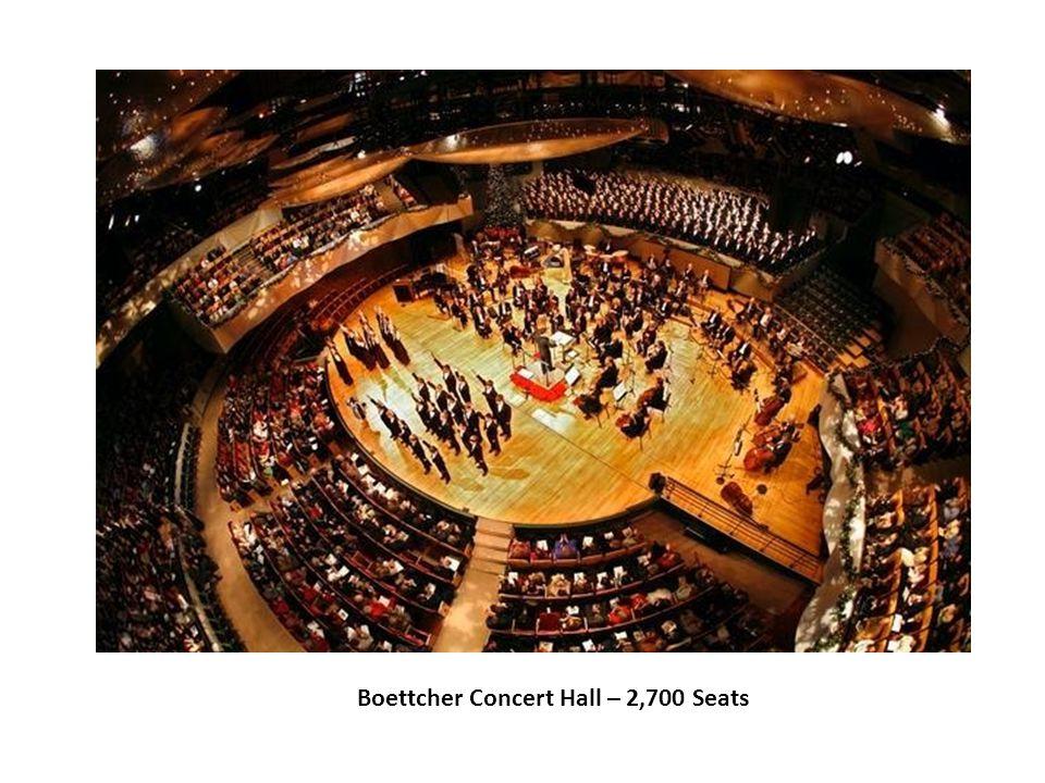 Boettcher Concert Hall – 2,700 Seats