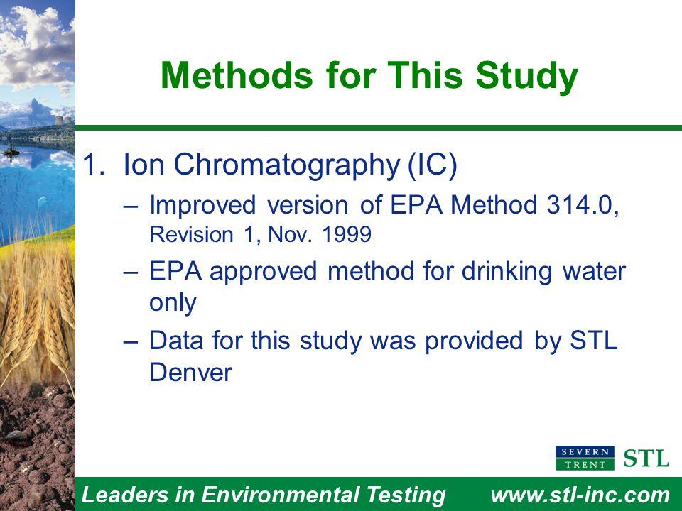 Leaders in Environmental Testingwww.stl-inc.com Performance Characteristics 3. Method Precision