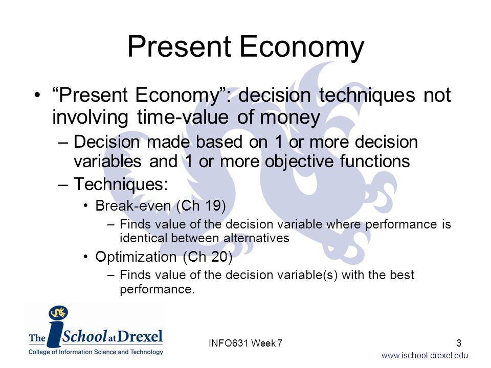 www.ischool.drexel.edu Break-Even With Three Alternatives How interpret.