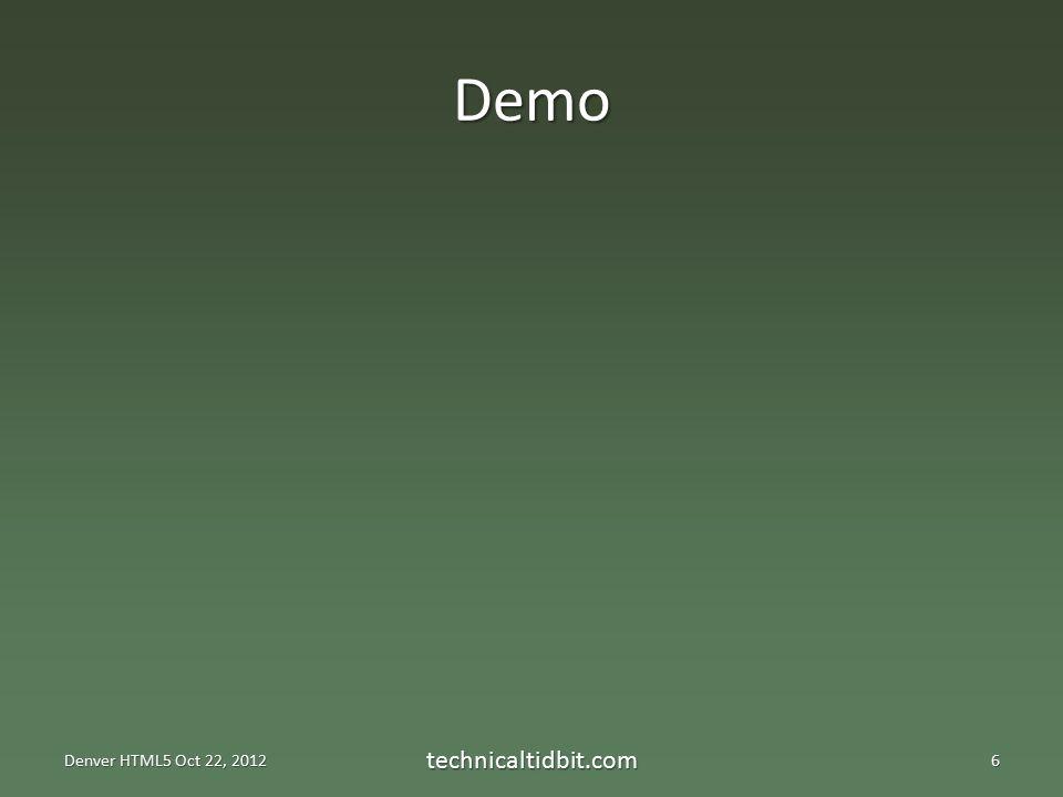 Demo technicaltidbit.com6