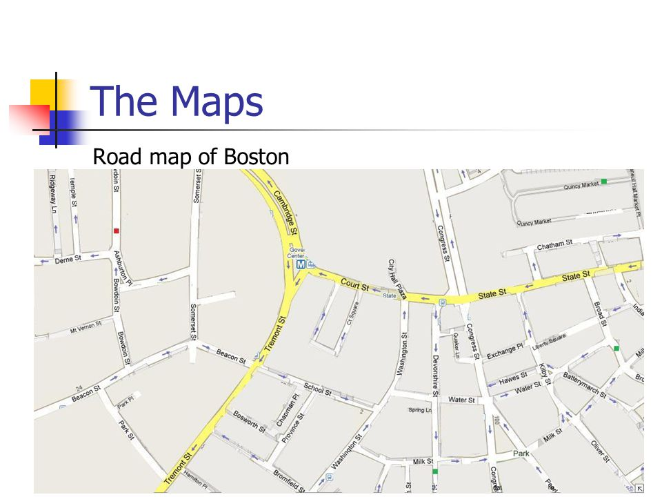 The Maps Road map of Boston