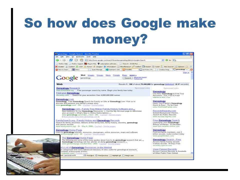 So how does Google make money