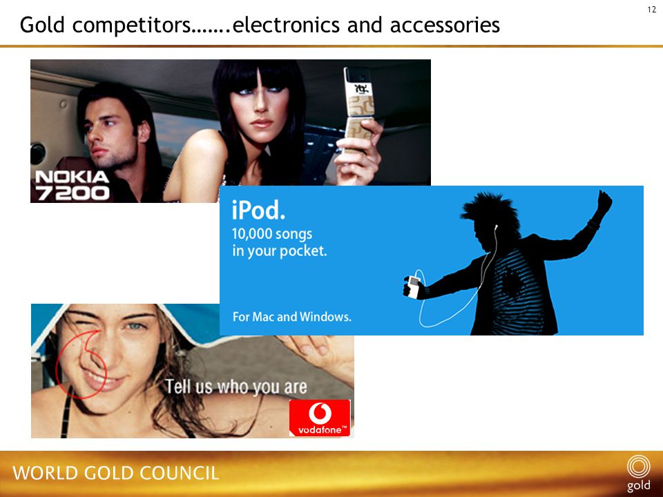 12 Gold competitors…….electronics and accessories