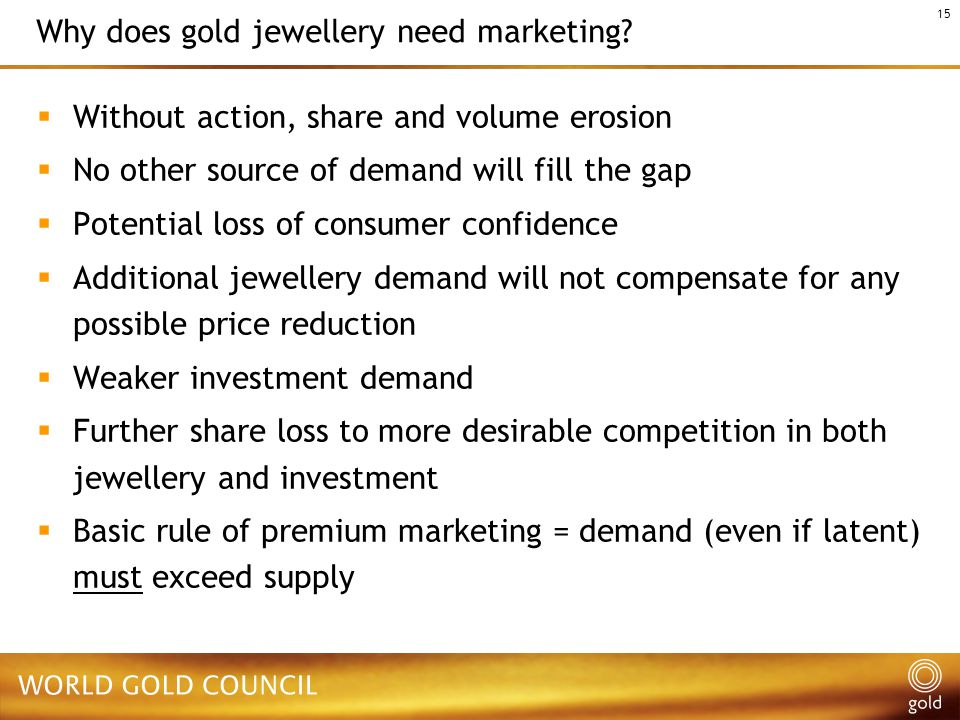 15 Why does gold jewellery need marketing.
