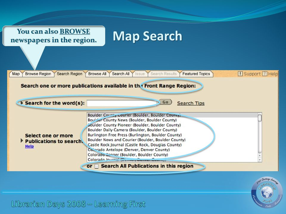 Map Browse AllSearch All Featured Topics