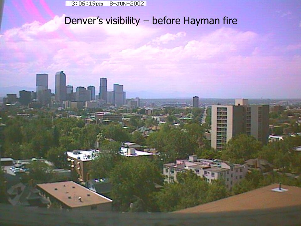 Denver's visibility – before Hayman fire