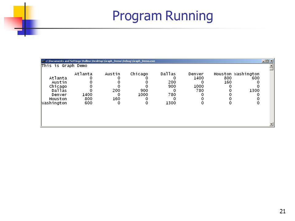 Program Running 21
