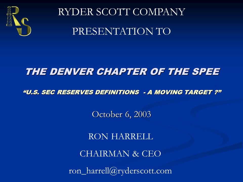 THE DENVER CHAPTER OF THE SPEE U.S.