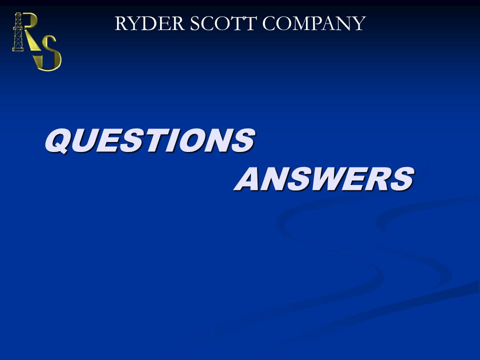 QUESTIONS ANSWERS RYDER SCOTT COMPANY