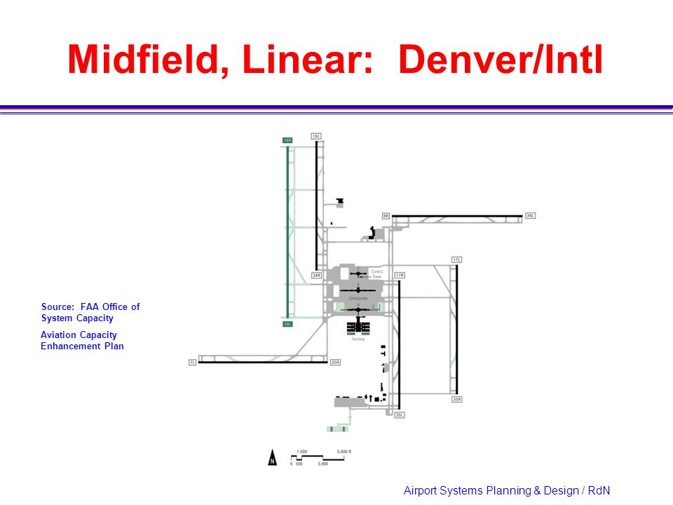 Airport Systems Planning & Design / RdN Midfield, Linear: Denver/Intl Source: FAA Office of System Capacity Aviation Capacity Enhancement Plan