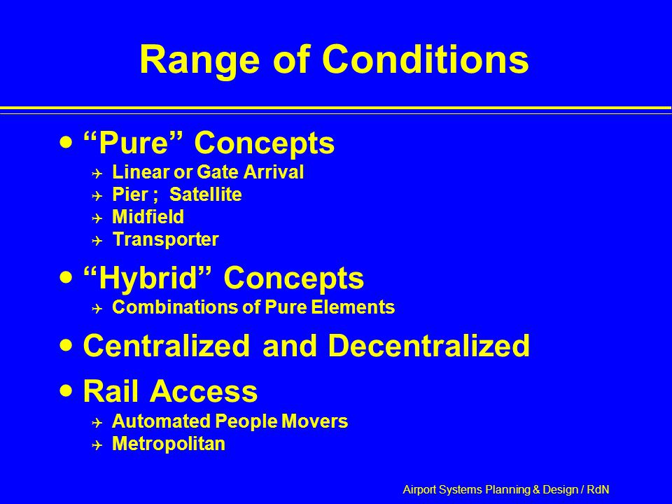 Airport Systems Planning & Design / RdN Hybrid: Chicago/O'Hare Source: FAA Office of System Capacity Aviation Capacity Enhancement Plan
