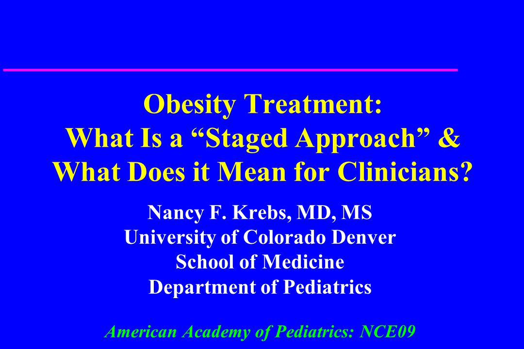 Obesity Treatment: What Is a Staged Approach & What Does it Mean for Clinicians.