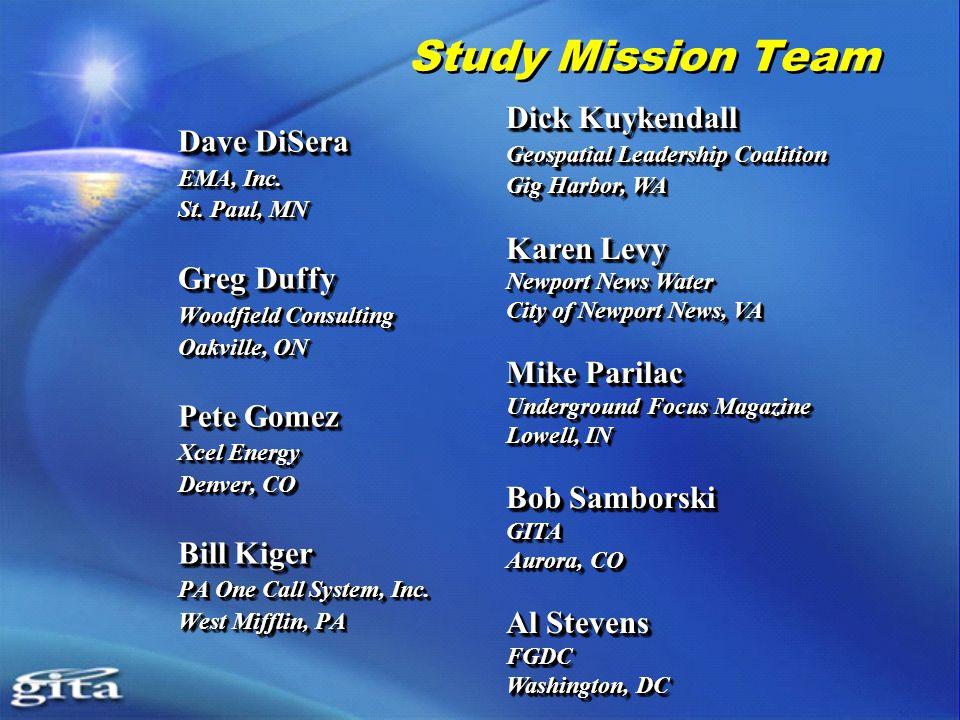 Study Mission Team Dave DiSera EMA, Inc. St.