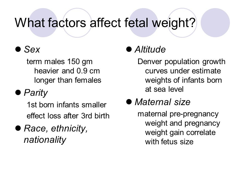 What factors affect fetal weight.
