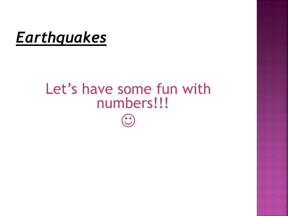 Let's have some fun with numbers!!!