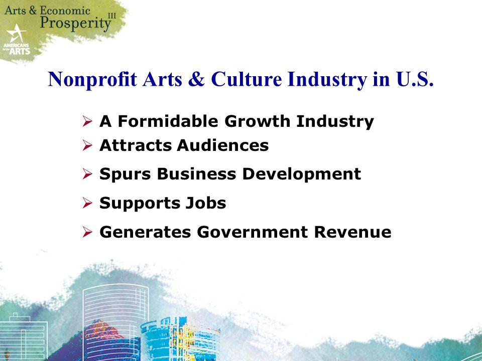 Nonprofit Arts & Culture Industry in U.S.