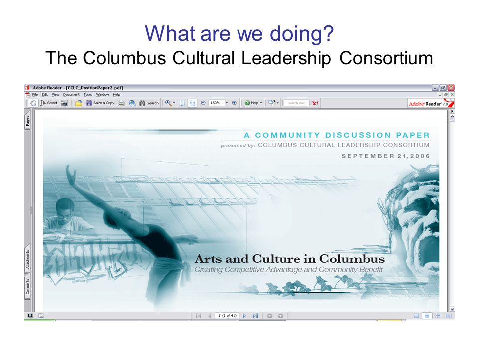What are we doing? The Columbus Cultural Leadership Consortium
