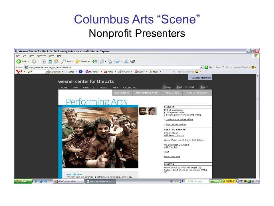Columbus Arts Scene Nonprofit Presenters