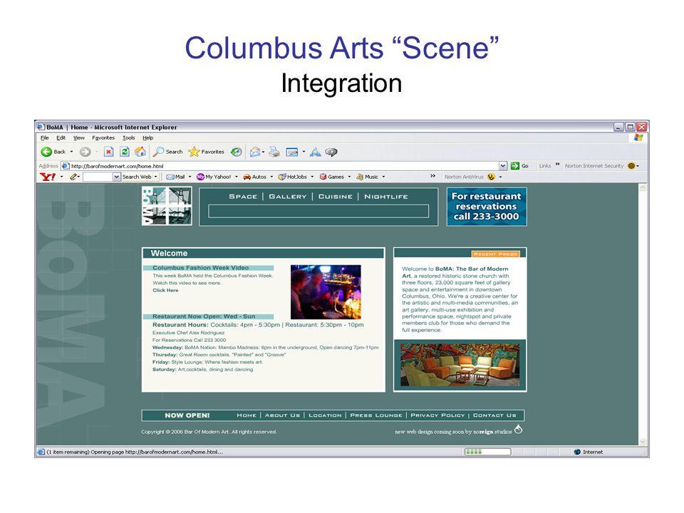 Columbus Arts Scene Integration