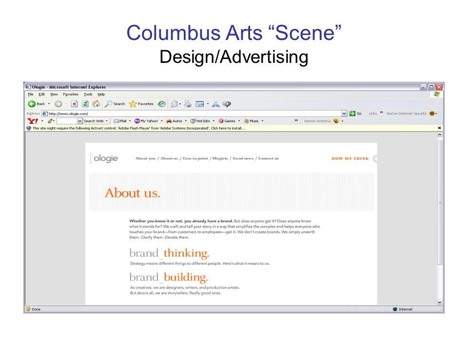 Columbus Arts Scene Design/Advertising