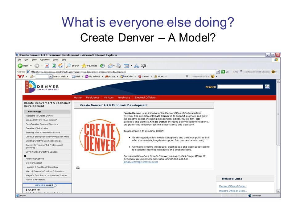 What is everyone else doing? Create Denver – A Model?