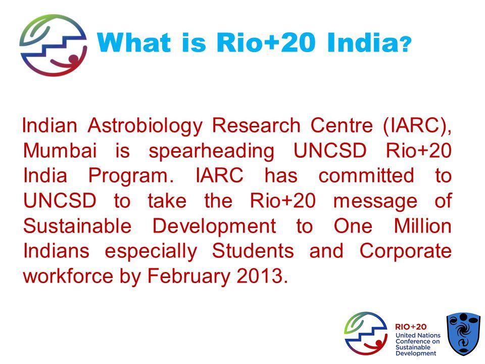 IARC and UN Initiatives 1.UN International Year of Biodiversity 2010.