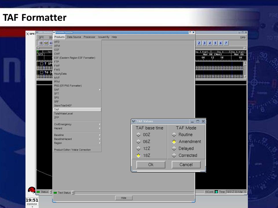 TAF Formatter