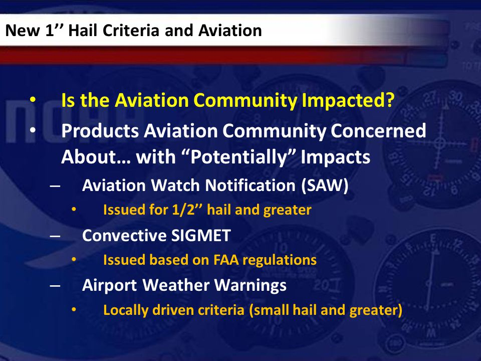 Is the Aviation Community Impacted.