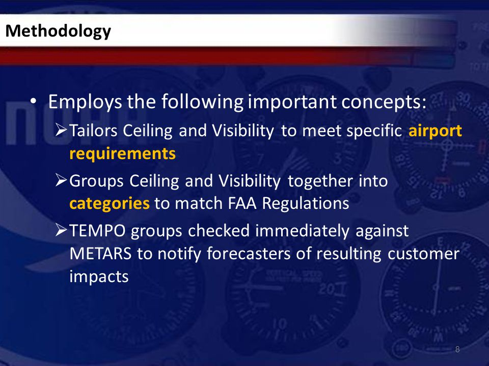 Proposal: Remove VC use in TAFs and use CB  Become ICAO compliant  FAA on board  Impacts remain the same to customers  TAFs can be used for their intended purpose Ex: SCT008 BKN025CB Ex: TSRA SCT010CB BKN020 Use of VCTS/CB in TAFs