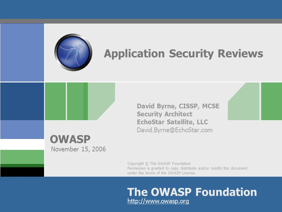 OWASP 2 Testing Steps  Planning  Reconnaissance  Infrastructure  Input validation  Denial of Service (DoS)  Authentication & Authorization  Information Disclosure  Code Review  Reporting