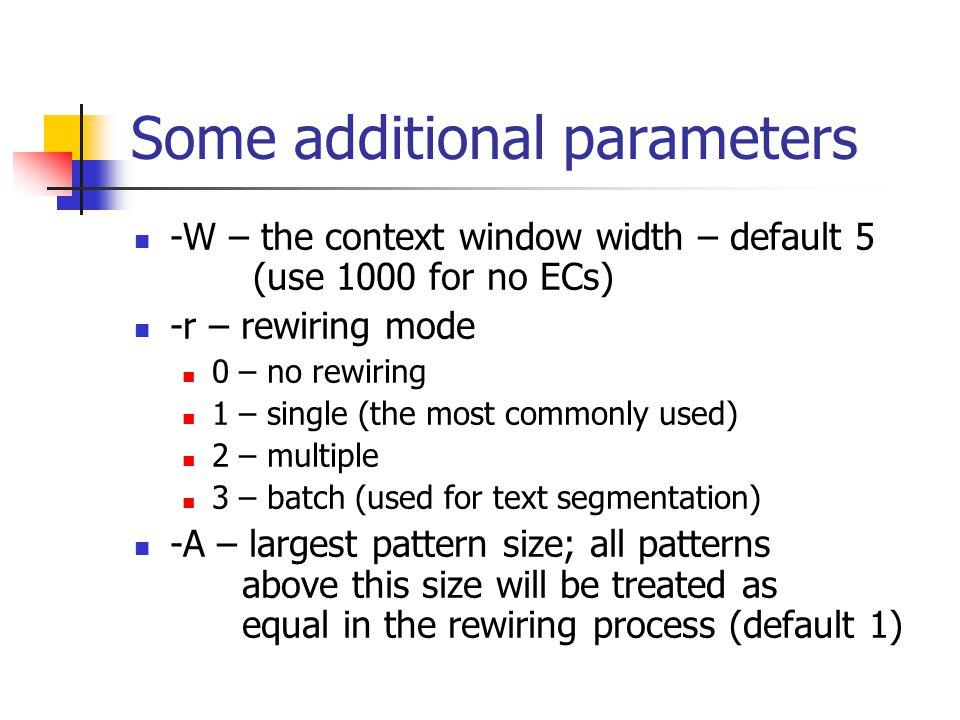 Training ADIOS To train, usually the following parameters are used./adios.exe –a train –i proj.idx –g proj.grp –E 0.8 –S 0.01 –o proj Some parameters