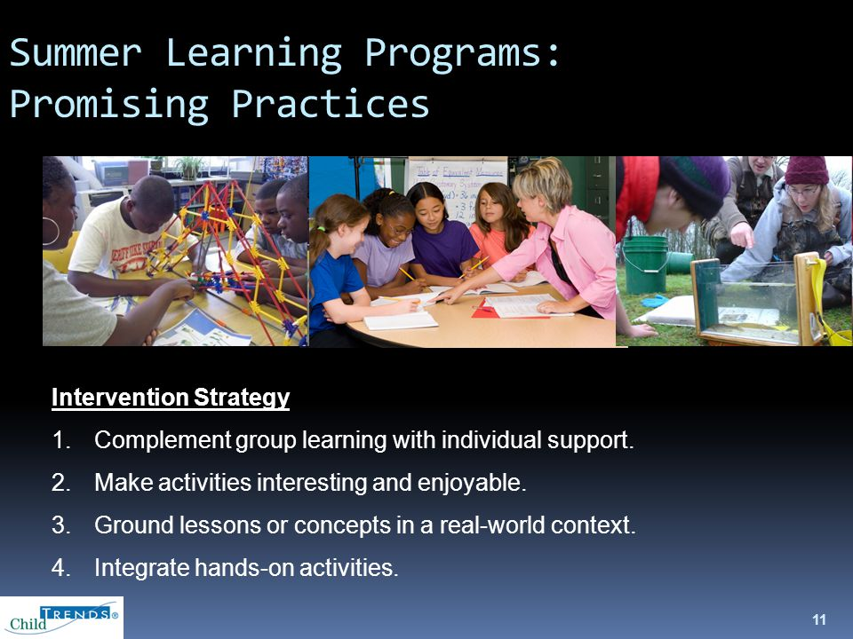 Intervention Strategy 1.Complement group learning with individual support.