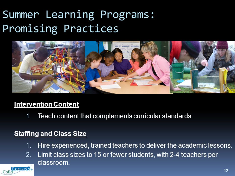 Intervention Content 1.Teach content that complements curricular standards.