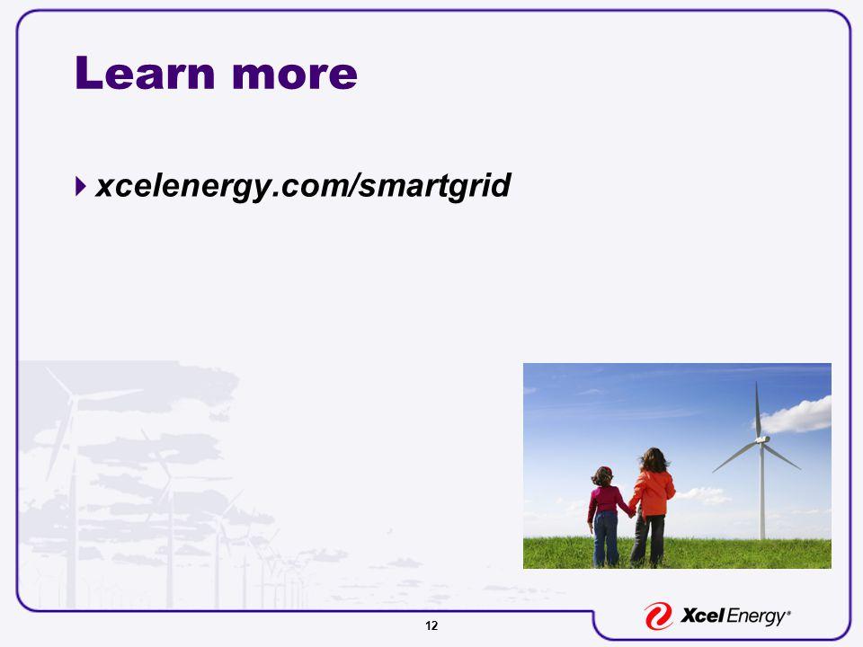 12 Learn more  xcelenergy.com/smartgrid