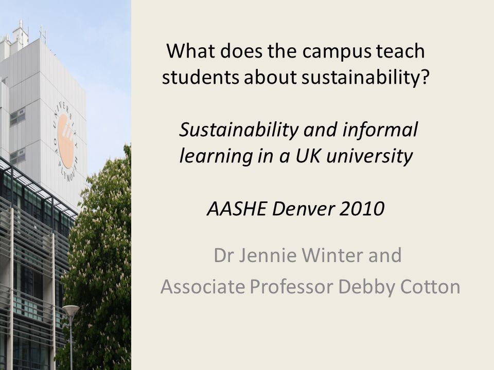 What does the campus teach students about sustainability.