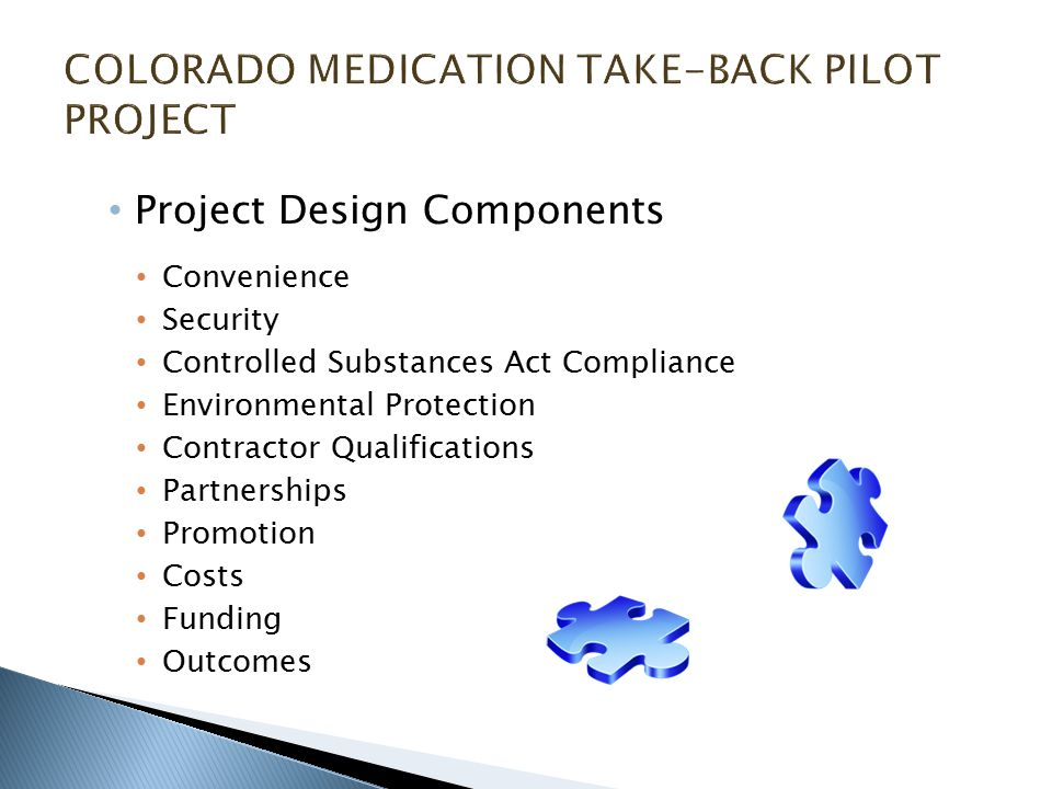 Project Design Components Convenience Security Controlled Substances Act Compliance Environmental Protection Contractor Qualifications Partnerships Promotion Costs Funding Outcomes