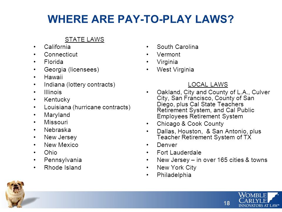 WHERE ARE PAY-TO-PLAY LAWS.