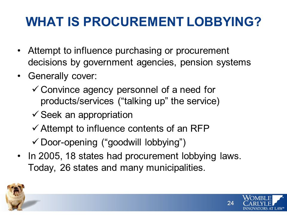 WHAT IS PROCUREMENT LOBBYING.