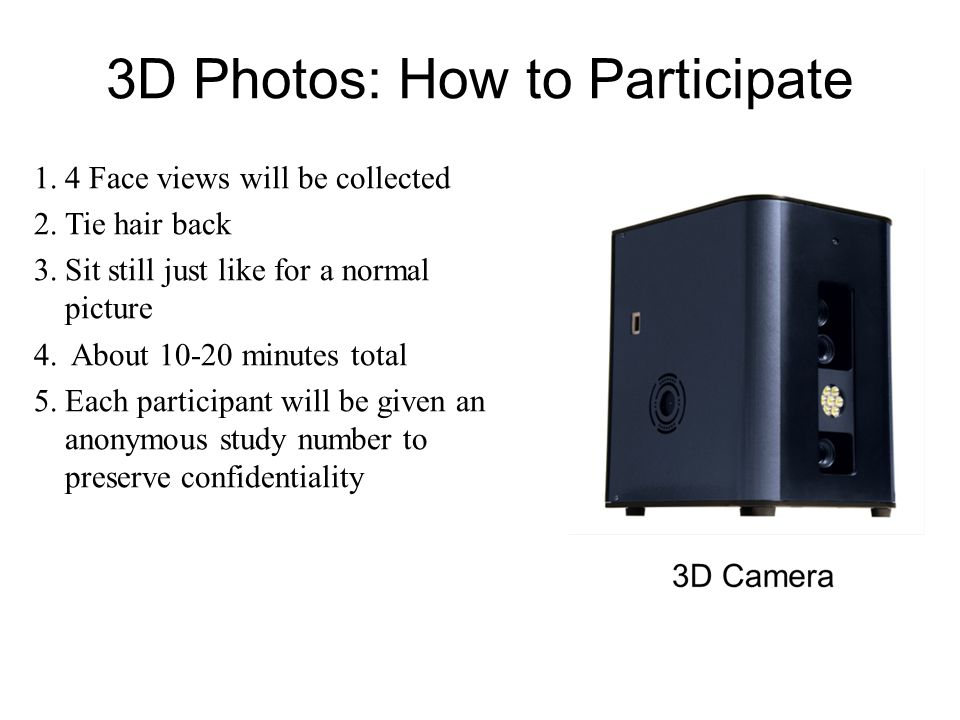 1.We will take your 3D photo 2.We will analyze the 3D image 3.