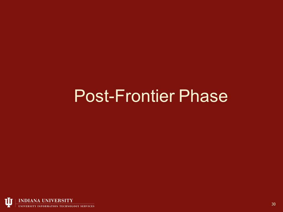 Post-Frontier Phase 30