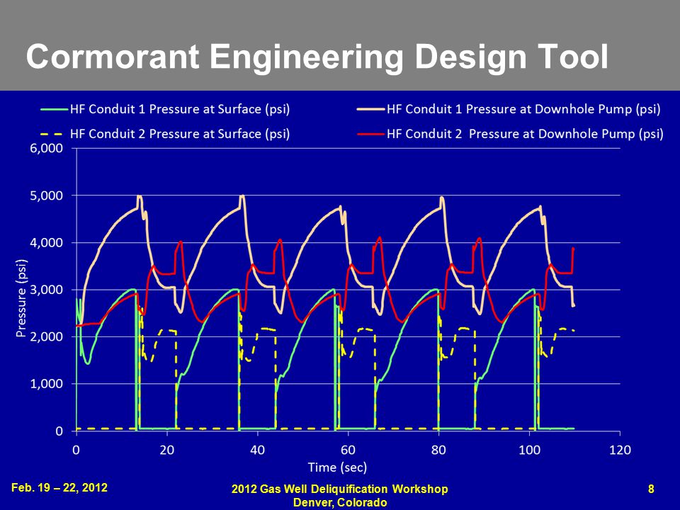 Feb. 19 – 22, 2012 2012 Gas Well Deliquification Workshop Denver, Colorado 8 Cormorant Engineering Design Tool