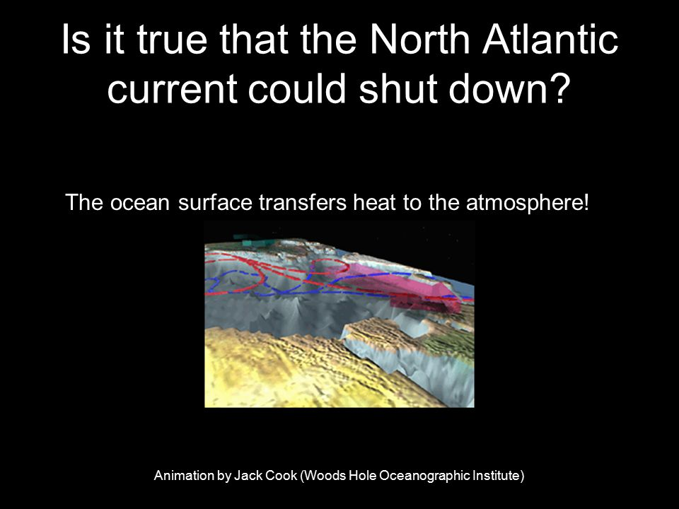 Is it true that the North Atlantic current could shut down.
