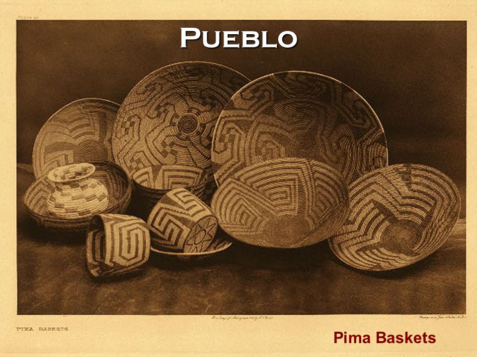 Pueblo Pima Baskets