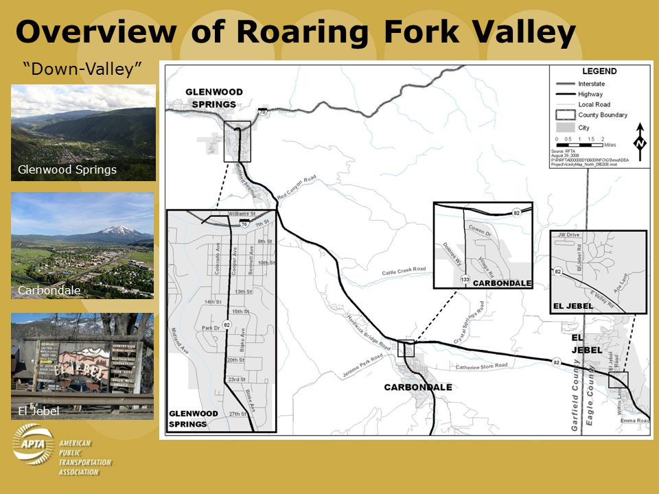 Overview of Roaring Fork Valley Down-Valley Glenwood Springs Carbondale El Jebel