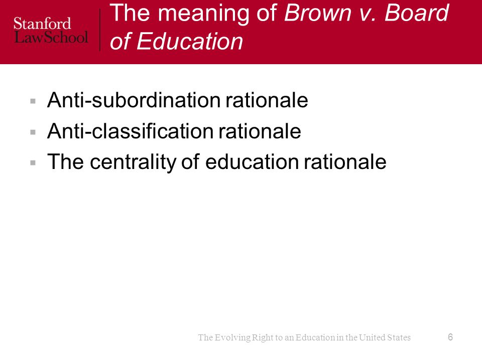 The meaning of Brown v.