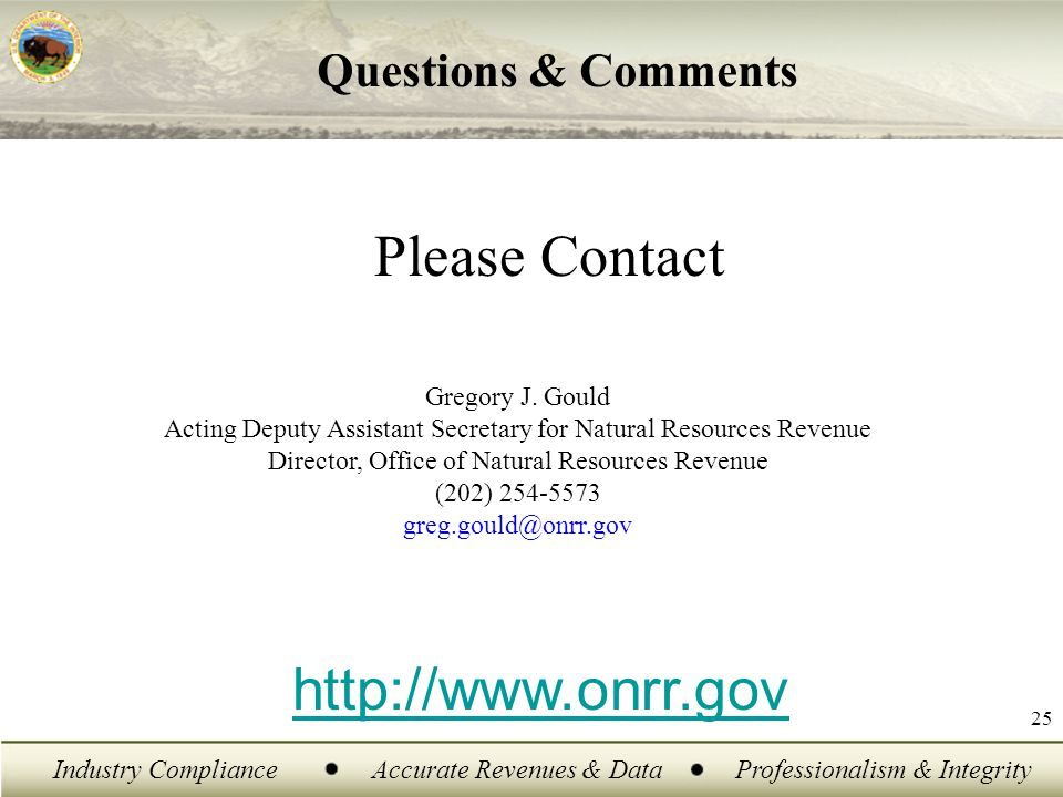 Industry ComplianceAccurate Revenues & DataProfessionalism & Integrity 25 Please Contact Gregory J.