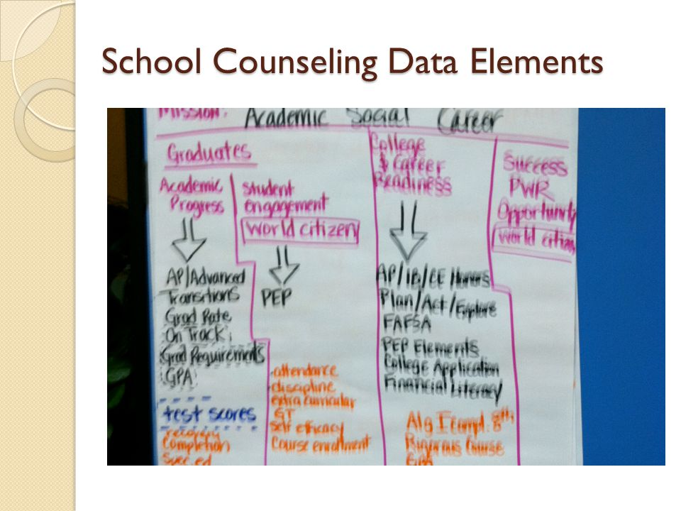 School Counseling Data Elements