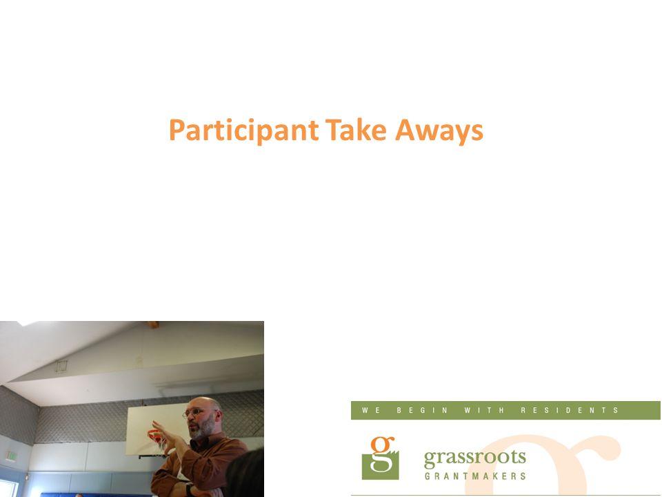 Participant Take Aways